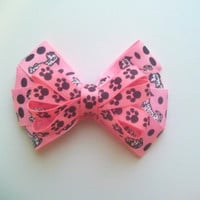 Puppy Dog Hair Bow, Puppy Hair Clip, Puppy Headband, Pink Puppy Hair Bow for Girl, Infant Hair Bow