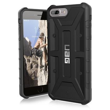 UAG iPhone 8 Plus / iPhone 7 Plus / iPhone 6s Plus [5.5-inch screen] Pathfinder Feather-Light Rugged [BLACK] Military Drop Tested iPhone Case