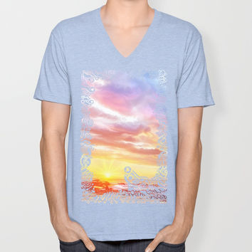Calm before a storm Unisex V-Neck by exobiology