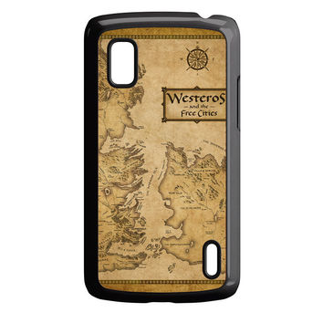 Game Of Throne Map Westeros Nexus 4 Case