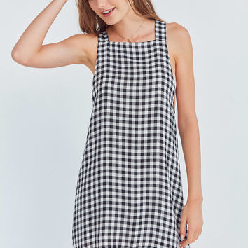 Cooperative Gingham Apron Mini Dress   Urban Outfitters