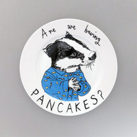 Are we having Pancakes? side plate
