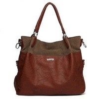 Women's Classic Fashion Tote Handbag Shoulder Bag Perfect Large Tote with Shoulder Strap(227,Brown)