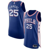 Ben Simmons Philadelphia 76ers # 25 Nike Blue Swingman Icon Edition Jersey - Best Deal Online