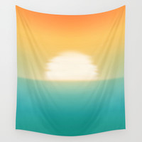 Into the horizon Wall Tapestry by Budi Satria Kwan