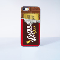 Willy Wonka Golden Ticket Design Plastic Case Cover for Apple iPhone 5s 5 6 Plus 6 4 4s  5c