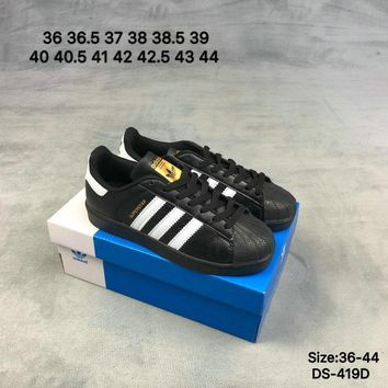 Adidas Original SUPERSTAR Fashion Women Men Skate Shoes Black Wh bfe08466fed2