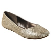 Womens Mossimo Supply Co. Odell Glitter Ballet Flats - Gold
