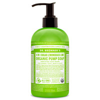 Dr. Bronner's Organic Shikakai Pump Liquid Soap - Hand and Body - Lemongrass Lime - 12 oz