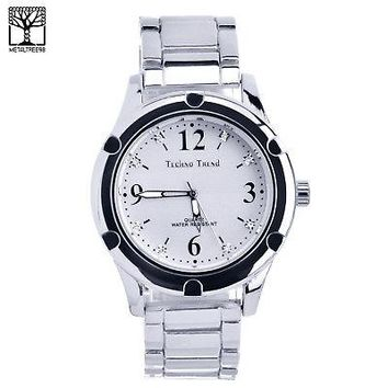 Jewelry Kay style Men's Luxury Fashion CZ Silver Plated Metal Band Bling Hip Hop Watches WM 1337 S