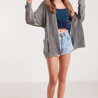 BDG Acid Wash Cable Knit Cardigan | Urban Outfitters