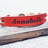 Custom Personalized Engraved Braided Leather Bracelet, special occasion gift