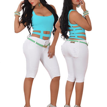 Colombian White Capri Pants