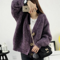 Cute Womens Christmas Deer Sleeveless Mohair Cardigan Sweater Hoodie