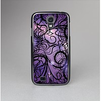 The Violet with Black Highlighted Spirals Skin-Sert Case for the Samsung Galaxy S4
