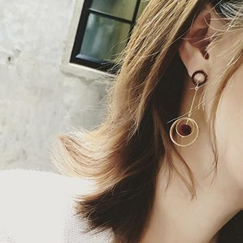 Hollow Out Ring Korean Fashion Earrings [10824952455]