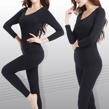 New Long Johns for Women Plus Size M-XXL Winter Thermal Underwear Suit Thick Modal Ladies Thermal Underwear Female Clothing