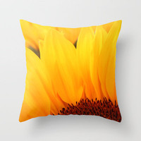 Sunflower Throw Pillow by Becky Dix | Society6