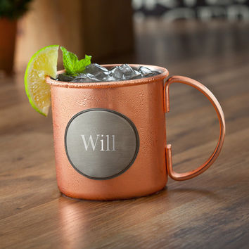 Personalize a Moscow Mule Copper Mug w/Pewter Medallion