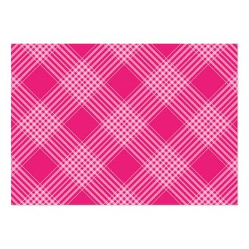 cute pink plaid large business card