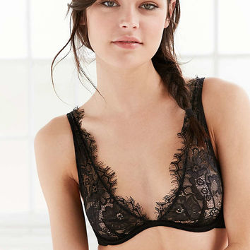 Out From Under Scarlett Eyelash Lace Bra - Urban Outfitters