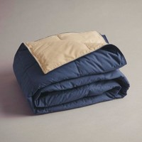 Cuddly Companion Down Throw Navy/Tan 50 x 60 Inches