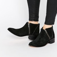 H By Hudson Zip Suede Ankle Boots