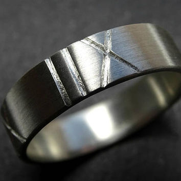 silver wedding band mens roman numeral ring band, custom roman numerals ring, personalized wedding date ring, mens anniversary ring