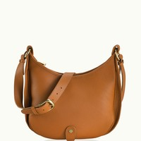 GiGi New York Lauren Saddle Bag Saddle Pebble Grain Leather