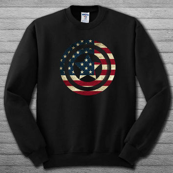 captain america shield united states flag Sweatshirt  # For Women , Men  Sweatshirt