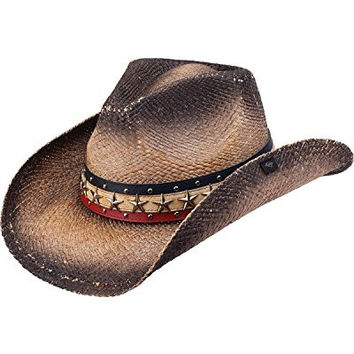 Peter Grimm Ltd Unisex Hogan Straw Cowboy Hat Black One Size