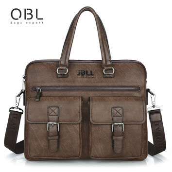 QiBoLu Cow Genuine Leather Handbags Men Crossbody Shoulder Laptop Bag Sacoche Homme Bandolera Bolso Cuero Genuino Hombre MBA53