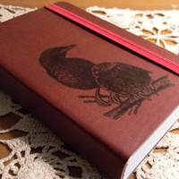 Black Crow Raven Journal Pocket Sketch Book Pad