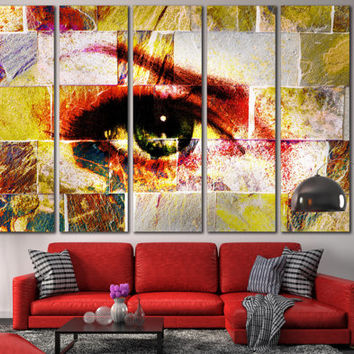 Abstract Eye Modern Art - Abstract Art Canvas Print, Woman Eye Wall Art Canvas for Home or Office Decoration