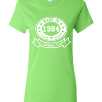 Made In 1984 With All Original Parts Great 30TH LANDMARK Birthday Celebration T Shirt Great Gift For 30TH Birthday Made In 1984