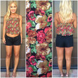 Red Orchid Crop Tank