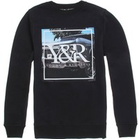 Young & Reckless Rhyder Crew Fleece - Mens Hoodie - Black