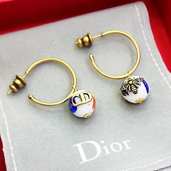 DIOR Fashion Women Personality CD Bee Earrings Jewelry Accessories