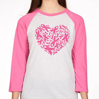 Pink Ribbon Heart, Breast Cancer Shirt, October Pink Ribbon Shirt, Support Breast Cancer Survivor, Breast Cancer Walk, Marathon t shirt