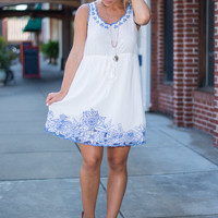 Ease My Mind Dress, White