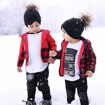 2017 Baby Lovely Enfant Beanie Pom Pom Hat Fleece Cap Winter Hats For Kids Warm Casual Caps Ski Boys Girls Cap Skullies Bonnet