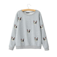 Quilted Boston Terrier Sweatshirt