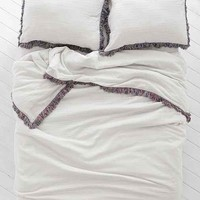 Magical Thinking Bala Yarn-Dyed Duvet Cover- Grey Full/queen