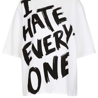 I Hate Everyone Oversize Tee - Topshop USA