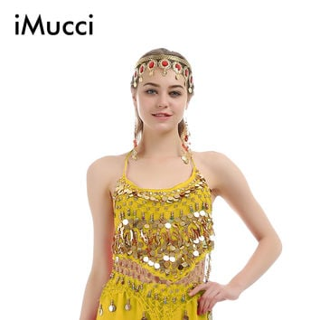 iMucci 6 Colors Little Pepper Sleeveless Adult Women Belly Dance Top 120D High Density Chiffon Dancing Costume Dancewear 105 Bra