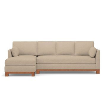 Avalon 2pc Sectional Sofa LAF in BEIGE - CLEARANCE