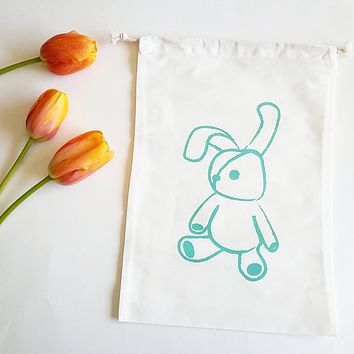 Smockbox Bunny Cotton Drawstring Bag