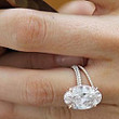 3.45ct Oval Diamond Engagement Ring  Blake Lively JEWELFORME BLUE GIA certified
