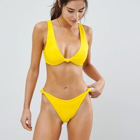 ASOS Knot Minimal Crop Bikini Top at asos.com