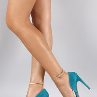 Liliana Colorblock Ankle Strap Pump